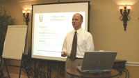 Professional Sales Trainer Shamus Brown delivering onsite sales training course.